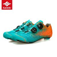 SANTIC Men's Road Bicycle Shoes PRO Athletic Racing Team Cycling Self-locking