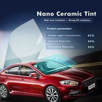 SUNICE 0.5*3m Light Blue uv insulation Car Window Tint VLT 65% 2 ply Solar Protection