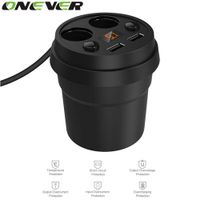 Onever 5V 3.1A Dual USB Car Charger 12-24V 2 Port Cigarette Lighter with Voltage