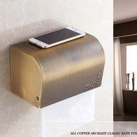 Antique Brass Finish Toilet Paper Holder waterproof Design/Bronze Paper Towel Holder/Fashion Roll Holder,Bathroom tissue box