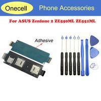 10pcs tool+New Sim Card Slot Socket Holder Flex Cable For ASUS Zenfone 2 ZE550ML ZE551ML Sim Reader Flex Replacement