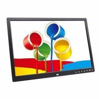 17 Inches Wide Screen HD LED Digital Photo Frame LED Screen Touch Buttons Multi