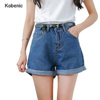 Kobeinc Solid Women Clothing Denim Shorts With Pockets
