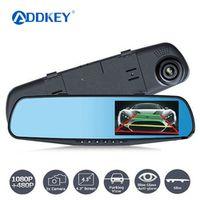 ADDKEY Night Vision Car Dvr detector Camera Blue Review Mirror Digital Video Recorder