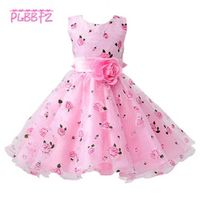 PLBBFZ Little Flower Girl Dresses With Rose Gown Dress For