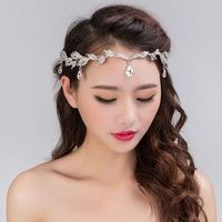 Korean frontlet wedding headdress selling diamond pendant