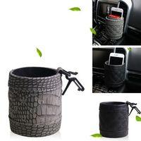 asywf Imitation crocodile skin car outlet bucket cup mobile phone frame pen holder