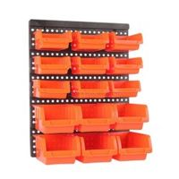 toohr ABS Wall-Mounted Storage box Parts Garage Unit Shelving Hardware screw organize