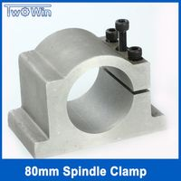 80mm spindle clamps bracket carving machine clamp motor lathe chuck match  1.5KW 2.2KW spindle motor milling tool lathe