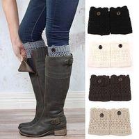 FancyQube Women Winter Leg Warmers Acrylon Wool Crochet
