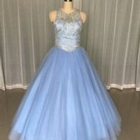 Ruolai Amazing Quinceanera Dress Sleeveless Scoop Ball Gown