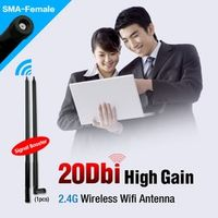 YCDC 20dBi 2.4 GHz Booster Wireless WLAN RP-SMA Antenna WIFI For Router PCI Card