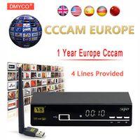 FREE SAT 1 Year Europe Server HD Freesat V8 Super DVB-S2 Satellite Receiver Full