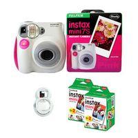 100% Authentic Fujifilm Instax Mini 7s Instant Photo Camera with 40 Sheets Fuji White