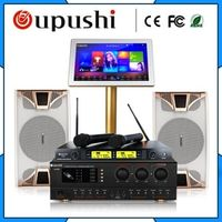 Oupushi Family Karaoke Party ktv player system 4 TB HD 10 inch speaker 19 ""