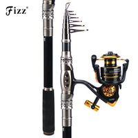 leo Fishing Rod Combo Fishing Reels Saltwater 1.8-3.3M H Action Spinning