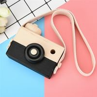 HIINST Black Wooden Camera Kids Creative Neck Hanging Rope