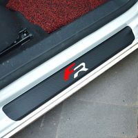 MAIZHI 4pcs Carbon Fiber Scuff Plate Door Sill Guard Sticker for Seat Leon 2 FR Ibiza