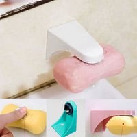 HELTC 1PCS Magnetic Soap Holder Dispenser Kitchen Bathroom Shower Adhesive Wall