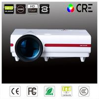 Full hd 3500lumens WXGA 720P CRE LCD LED 2HDMI USB Video Projectors for home theater