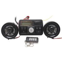 albabkc Motorcycle Bike FM Radio USB TF MP3 Player Waterproof Anti-thief LCD Stereo