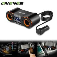 Onever Car Cigarette Lighter Socket Power Adapter Outlet with 3.5A Dual USB Charger