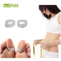 InniFun 1Pair 2Pcs Weight Loss Magnetic Silicone Care Diet Foot Massager Double Toe