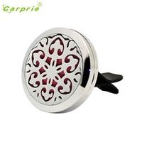 CARPRIE Dropship pink flower Stainless Steel Car Air Auto Vent Freshener