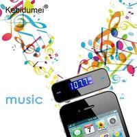 kebidumei Wireless 3.5mm In-Car Handsfree Car Kit Music Radio LED Display MP3 FM