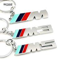 vvcesidot Metal Logo key ring keyring keychain key chain Car Styling for bmw auto M