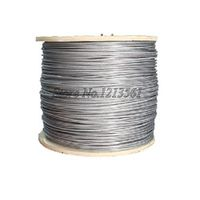 100meter/lot 1.0mm Roll High Tensile Stainless Steel Wire Rope 7X7 Structure 1.0MM Diameter