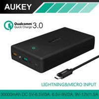AUKEY Quick Charge Power Bank 30000mAh QC3.0 Portable Fast Charger External Battery