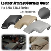 Auzan Leather Armrest Cover w/ Plastic Plate for BMW E46 3 Series 1999-2005 Left Hand