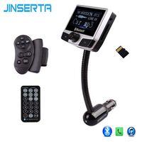 JINSERTA Bluetooth Car Kit AUX Audio MP3 Player FM Transmitter Handsfree USB SD Slot