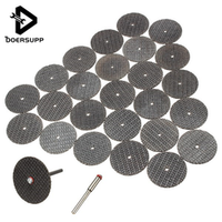 25pcs/set Metal Cutting Disc for Dremel Grinder Rotary Tool Circular Saw Blade Wheel Cutting Sanding with 1pc Mandrel Accessory