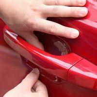 DEDC 4pcs/set Universal Invisible Clear Adhesive Car Door Handle Paint Scratch