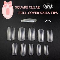 TSZS 1bags/ lot -500pcs in a bag Clear full cover nail art artificial fake nails