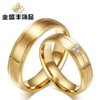 couples's gold plating titanium steel ring couple buddhist monastic discipline ring for lovers jewelry wholesale  CR-055