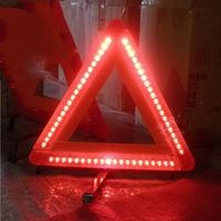 car warning triangels with led light use in night good quality keep safe