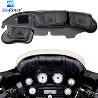 Black 3-Pockets Motorbike Fairing Windshield Bag For Harley Electra Street Glide Touring Bike 1996-2013 Motorcycle