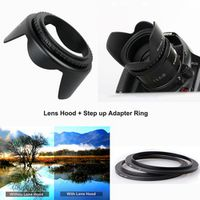 HuWANG CADEN 40.5mm Tulip Flower Lens Hood for Sony Alpha A6500 A6300 A6000 A5100