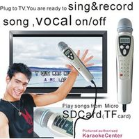 Chinese English Singing Machine Magic Microphone System Recordable 595 MTV cdg