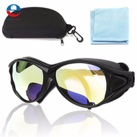 PC 150mm CO2 Laser Protective Goggles Double-Layer Professional Glasses 10.6um OD+7 For Laser New Arrival