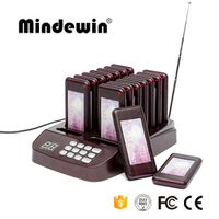 Mindewin Restaurant Coatser Paging System Quality 16 Calls Wireless Pagers System Queue Management Equipments Fast Food Pager