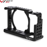 DSLR Camera Video Cage Stabilizer Rig For Sony A6000 / A6300 / NEX7 With 1/4 inch screw holes Stabilizer Handle