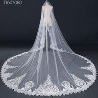 3*3 Meter White Ivory Cathedral Bridal Veil Wedding Veil