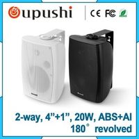 Oupushi 20W Home Theater System Black Background Speaker 2-Way In Wall