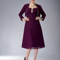 cecelle Grape Short Knee Length A-line Bride Dresses