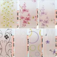 funlife 2018 style Flower window film Stained Glass