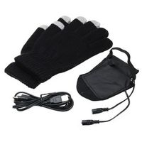 OUTERDO Winter Warmer Touch Screen Bike Gloves USB Electric Powered Heated Washable